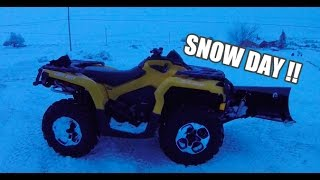 7. Plowing with the Can Am Outlander 500 XT !
