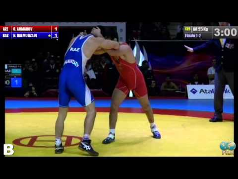 Поединок за 'золото' финального Гран-при между Калмурзаевым и Ахмадовым