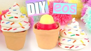 DIY ICE CREAM EOS- How To Make Cute Ice Cream Cone Lip Balm! - YouTube