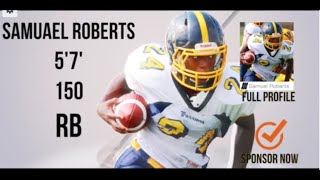 Sam Roberts (RB) Class 2017 - HESN 2K15 Football Highlights