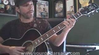 Guitar Lessons - Love Will Come Through by Travis - cover lesson Beginners Acoustic songs