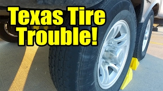 """On our travels from South Padre Island to Corpus Christi, TX we discover that one of our trailer tires is balding on the outside rim and wearing funny. To avoid any potential for a blowout, we leave our Walmart boondocking site and head to Discount Tire. We replace our factory tires for a Maxxis 8008 E grade tire.Don't forget, we are """"totally"""" social so check out the links below :http://www.totally-trailer.comEmail totallytrailer@gmail.comFacebook: www.facebook.com/totallytrailerTwitter: @totallytrailerInstagram: totally_trailerMusic is found on epidemicsound.com""""Lets Bounce"""" Composer: Gavin Luke*****List of items that appear in our videos:weBoost Connect 4G Cell Phone Signal Boosterhttp://amzn.to/2i5NpN05' Steel Tubing - 16 Gauge Steel Mast Pipe with Locking Jointshttp://amzn.to/2ipFBGaRV Flag Pole Kit Motorhome Flag Kit by FlagPole Buddy 22 Feethttp://amzn.to/2hUKia9RV Flag Pole Multi-Colored Solar Beaconhttp://amzn.to/2hUHtGaCamco 40043 TastePURE Water Filter http://amzn.to/2iqvH7lSupreme Wheel Chock- 2 Packhttp://amzn.to/2isKD0QValterra A01-1117VP Brass Lead-Free Adjustable Water Regulatorhttp://amzn.to/2iKQb73Camco 22505 90 Degree Hose Elbowhttp://amzn.to/2ie8BQyCamco 20123 Brass Water Wye Valvehttp://amzn.to/2hygRtFCamco 22833 Premium Drinking Water Hose (5/8""""ID x 25')http://amzn.to/2iKTT09*****Camera Gear used in our videos:SanDisk Extreme 500 Portable SSD http://amzn.to/2hVs5sNWD 2TB Black My Passport Ultra Portable External Hard Drive - USB 3.0 http://amzn.to/2isw3GqSanDisk Ultra 32GB UHS-I/Class 10 Micro SDHC Memory Card With Adapterhttp://amzn.to/2iKReUsRode VideoMicro Compact On-Camera Microphonehttp://amzn.to/2isy3hRDJI 4K, UHD 7x Zoom Handheld 4K Camera Osmo+ Blackhttp://amzn.to/2hoaLO7DJI Osmo - Intelligent Batteryhttp://amzn.to/2ie7GzjJoby GorillaPod SLR Zoom Tripod with Ball Head Bundle for DSLR and Mirrorless Camerashttp://amzn.to/2hVml2iDJI Phone Camera Gimbal OSMO MOBILE, Blackhttp://amzn.to/2isK2MlGoPro HERO4 BLACKhttp://amzn.to/2isKmL3GoPro HER"""