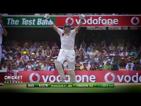 Millimetres from disaster: Hussey's career-saving ton