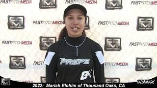 2022 Mariah Elohim Third Base Softball Skills Video - Easton Preps
