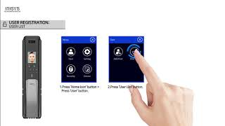 video thumbnail IRISYS Face Recognition Digital Door-lock IFP-7070 youtube