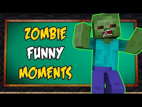 Monster School : ZOMBIE FUNNY MOMENTS | Minecraft Animations
