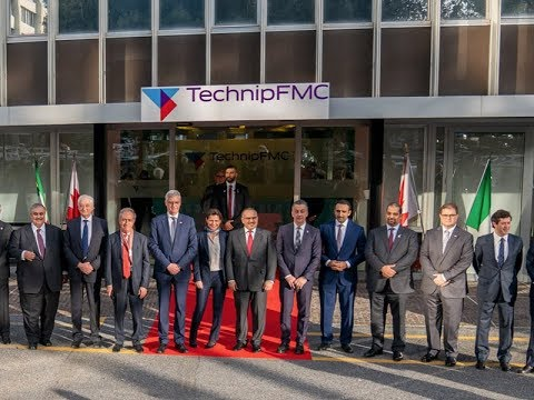 HRH the Crown Prince visits TechnipFMC during official visit to the Italian Republic