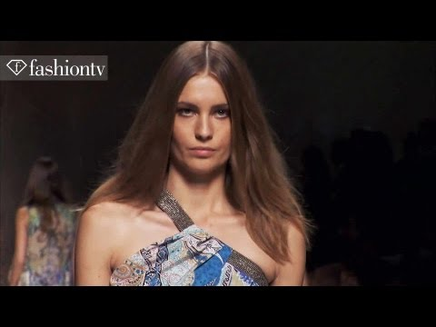 fashiontv - http://www.FashionTV.com MILAN -- FashionTV snags a seat in the front row of the Etro Spring/Summer 2014 Collection Show at Milan Fashion Week. Veronica Etro...