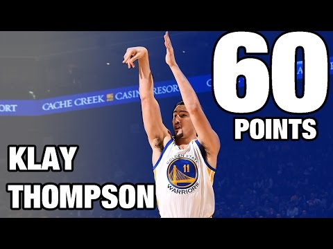 Klay Thompson CAREER HIGH 60 POINTS in 29 Minutes | 12.05.16