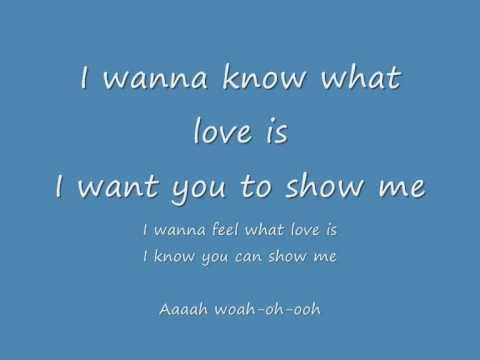 download i wanna know what love is