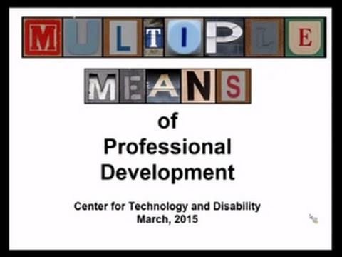 21st Century PD - Multiple Means of Professional Development