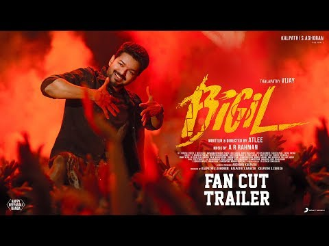 Bigil - Fan cut Trailer | Vijay, Nayanthara | A R Rahman | Atlee | AGS