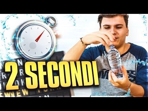 BERE UNA BOTTIGLIA D'ACQUA IN 2 SECONDI - (Esperimento/Nuova Serie)