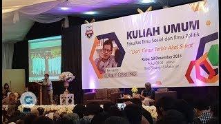 "Video Rocky Gerung - Makassar 19-12-2018 Dari Timur Terbit Akal Sehat ""Universitas Bosowa"" MP3, 3GP, MP4, WEBM, AVI, FLV Maret 2019"