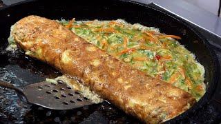 Video big egg rolled omelet - gyeranmari (을지로 골목 왕 계란말이 15,000KRW) korean street food / 명동 화산골뱅이 MP3, 3GP, MP4, WEBM, AVI, FLV Agustus 2019