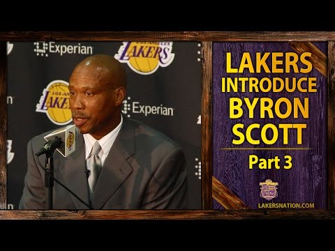 bryant - Byron Scott talks about his relationship with Kobe Bryant in his introductory press conference as the new Lakers head coach. What was his answer to if the Lakers turnaround will be complete...