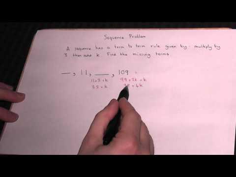 Mathematik Revision: Sequenzen - eine algebraische Problem von AQA Einheit 2