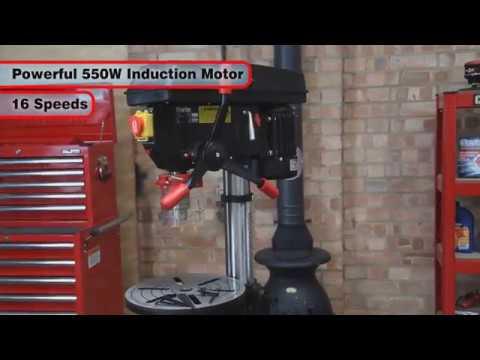 Clarke CDP352F Floor Standing Industrial Drill Press (230V)