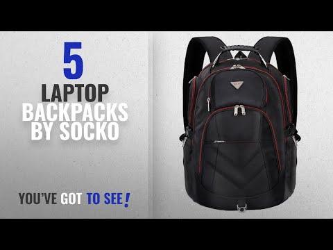 Top 10 Socko Laptop Backpacks [2018]: Laptop Backpack 18.4 Inch,SOCKO Nylon Water-Resistant Durable