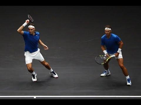 Federer/Nadal vs Sock/Querrey - Laver Cup Highlights HD (видео)