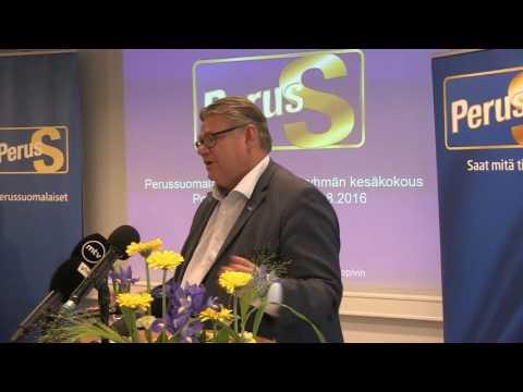 Timo Soini Guggenheimista Porissa 29.8.2016 tekijä: Verkkomedia Perussuomalaiset