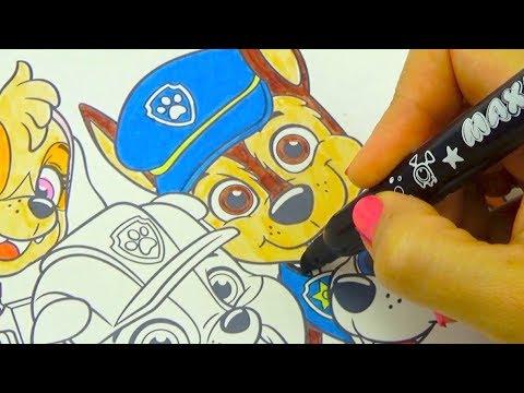 Щенячий патруль необычная раскраска для детей - DomaVideo.Ru