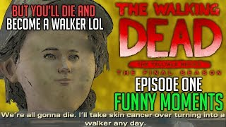 FUNNY MOMENTS of The Walking Dead: The Final Season Episode 1