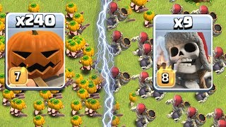 "Video GIANT SKELETON vs. PUMPKIN BARB!! "" Clash of clans "" Which troop is better?!? MP3, 3GP, MP4, WEBM, AVI, FLV Februari 2018"