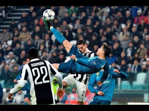 Фантастический гол Криштиано Роналду через себя в падении