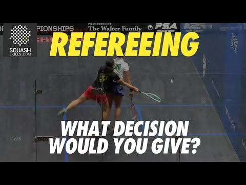 Squash Refereeing: Nouran Gohar v Raneem El Welily - Stroke