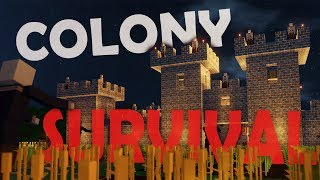 Colony Survival - GIANT BASE BUILDING! (Colony Survival Game / Gameplay)