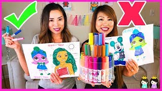 Video 3 MARKER CHALLENGE w/ Princess ToysReview! LOL Surprise, Moana, & Mickey Mouse MP3, 3GP, MP4, WEBM, AVI, FLV Juni 2018