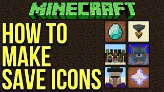 Minecraft 1.10: How To Make Custom World Save Icons Tutorial