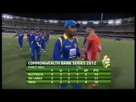 Sri Lanka vs India, Match 8, Brisbane, CB Series, 2012 - Short Highlights (HD)