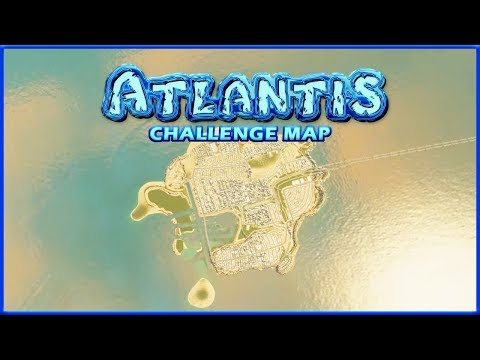 THE ISLAND IS SHRINKING! | Cities Skylines | Atlantis Challenge #14