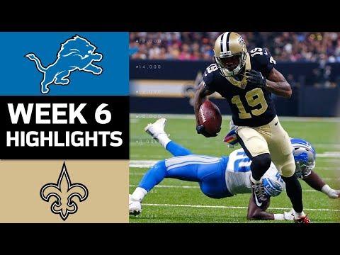 Lions vs. Saints | NFL Week 6 Game Highlights - Thời lượng: 11:59.