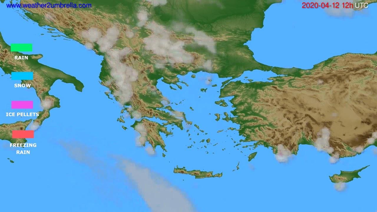 Precipitation forecast Greece // modelrun: 00h UTC 2020-04-12