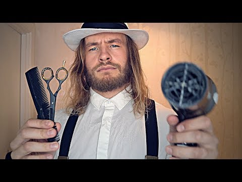 Rude English Barber Shop Haircut   ASMR