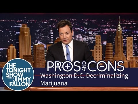Washington - In honor of Washington D.C. legalizing marijuana, Jimmy weighs the good and bad of making it okay to toke in the US capital. Subscribe NOW to The Tonight Show Starring Jimmy Fallon: http://bit.ly...