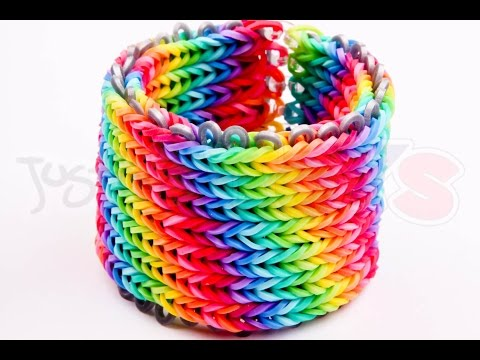 Alpha Loom – Seven 7 row Fishtail Rainbow Loom Bracelet