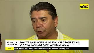 Taxistas se movilizarán el miércoles