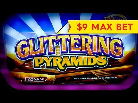 Glittering Pyramids Slot – $9 Max Bet – BIG WIN BONUS!