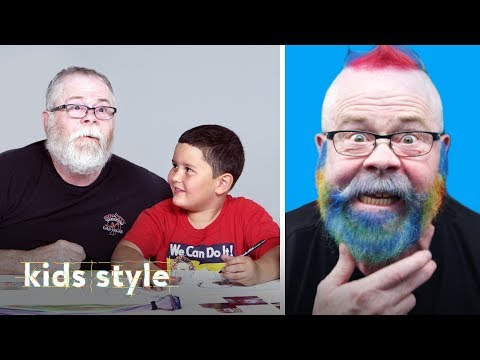 Ernie's Grandpa Gets a Rainbow Mohawk Makeover | Kids Style | HiHo Kids