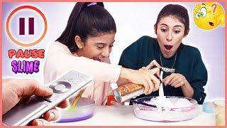 Pause Slime Challenge Pause Slaym Eğlenceli Çocuk Videosu Dila Kent