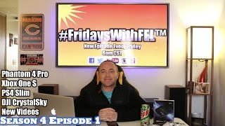 DJI CrystalSky, DJI Drones, Xbox One S & PS4 Slim Consoles, Infinite Warfare Sabotage DLC, Gaming & MORE in this week's new episode of FridaysWithFEL Season 4 Episode 1. Be sure to drop a like on the video and leave a comment below with your feedback and answers on today's show. (#FridaysWithFEL S4/Ep. 1) Items featured in this episode:-DJI CrystalSky https://goo.gl/72qqkl-DJI Phantom 4 Pro https://goo.gl/MeAK8y-DJI Phantom 3 Standard https://goo.gl/7IYqdm-Elgato Game Capture HD60 S http://e.lga.to/G4G-Xbox One S Bundles https://goo.gl/lPwB0J-PS4 Slim Infinite Warfare Bundle https://goo.gl/okb5Yh-Infinite Warfare Season Pass https://goo.gl/qXBgmU-Trigger Devils Trigger Stops https://triggerdevil.com/(use discount code TEAMFEL for 10% off)-GT Omega Racing PRO Office Gaming Chair https://goo.gl/Pa4t05 (use discount code TEAMFEL for 5% off)►MY VLOG CHANNEL http://www.youtube.com/RyanVlogsToo► My Gear I Use??http://amzn.to/1SDS3Zu►Prestige Zone - https://goo.gl/nnV8xW(use discount code TEAMFEL for 10% off) ►SOCIAL MEDIA:•Google+ http://bit.ly/FELonGooglePlus•Twitter http://twitter.com/FastElectLoud•Facebook http://bit.ly/FastElectronicLoudOnFacebook•Instagram http://www.instagram.com/fastelectronicloud•Twitch http://www.twitch.tv/fastelectronicandloud