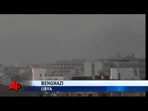 Raw Video- Plane Shot Down by Libyan Rebels