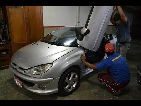 Peugeot CC conversível com lambo door Tuning doors