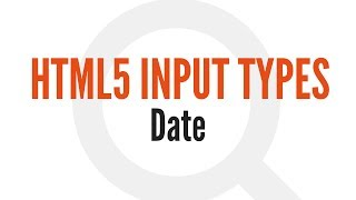 HTML5 Input Types: Date (8/14)