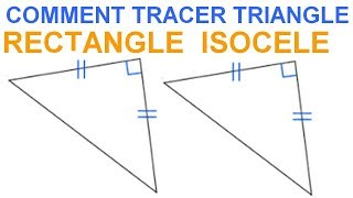 Maths 6ème - Les Bases De La Géométrie : Le triangle rectangle isocèle Exercice 18