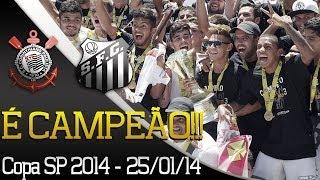 O Peixe é campeão da Copa SP 2014! A Santos TV registrou todos os momentos da comemoração do elenco e da comissão...